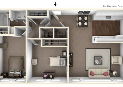 Cedarbrook 2 Bedroom (Large)