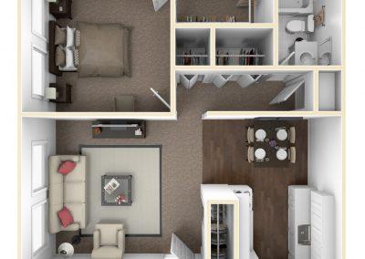 Cedarview East 1 Bedroom