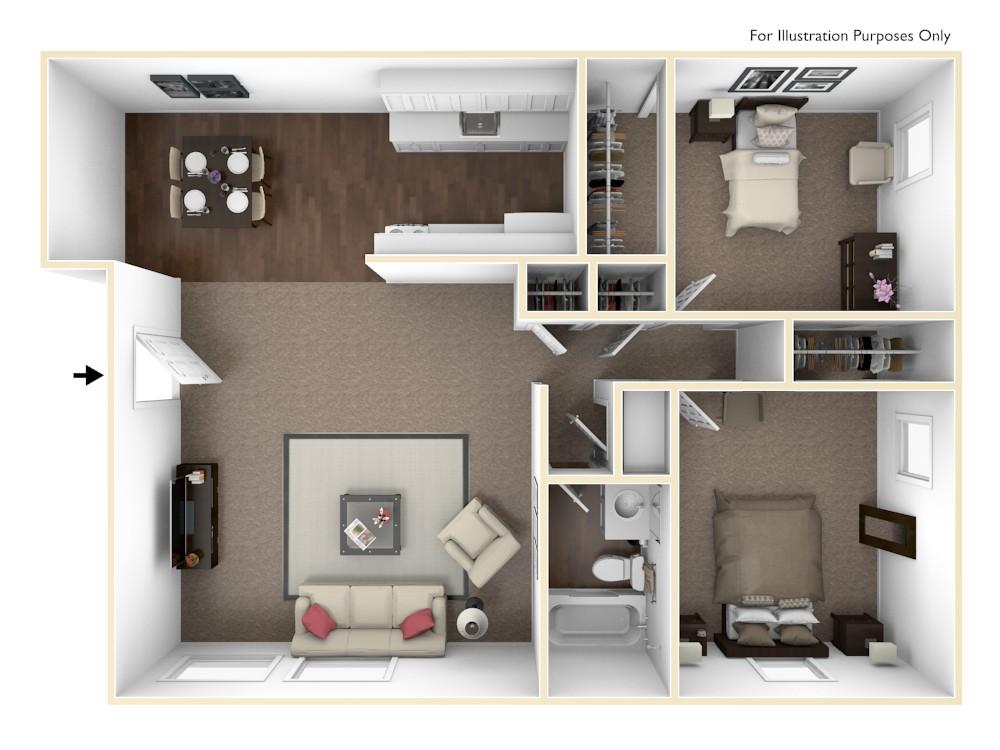 Cedarview East 2 bedroom (1376)