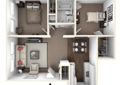 Cedarview East 2 bedroom (Riverview)