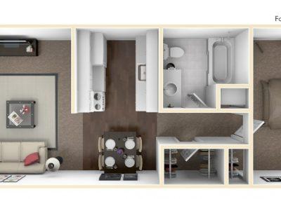 Cedarview West 1 bedroom